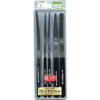 Professional file straight-5 pcs set details