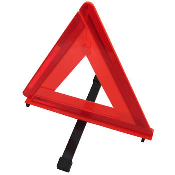 Triangular warning display plate