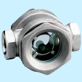 Stainless steel ball type sight glass (threaded joint)