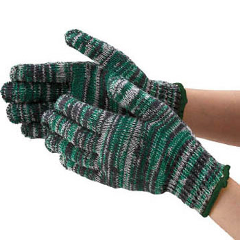 Color work gloves (10 double-entry)