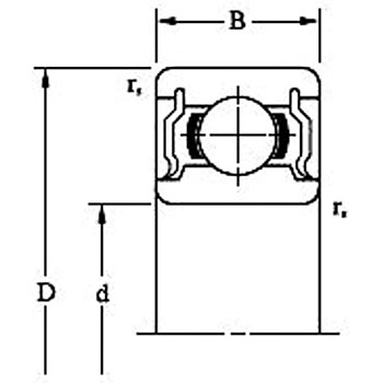 Ball Bearing 6900 Series Contact Double Seal Type