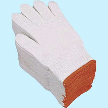 Warm soft brushed back cotton work gloves 10 twin-cored
