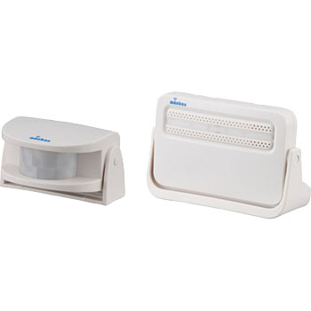 Wireless Chime Receiver and Infrared Sensor Set