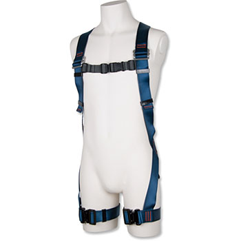 Full harness safety belt blue shadow