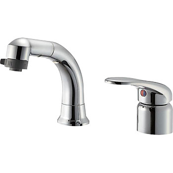 Single spray mixing faucet