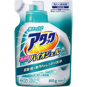 "Laundry Detergent, ""Attack Biogel"""