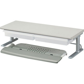 Keyboard slider  with tray shelf one stage