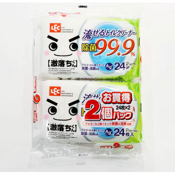 Toilet Cleaning Wipe, Ag+, Flushable