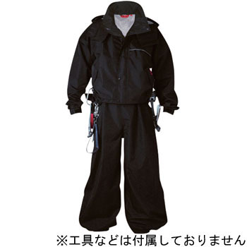 Black Panther Construction Worker Raincoat, Short Lentgh