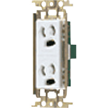 Cosmo Series Embedded Retainer Grounding Double Outlet