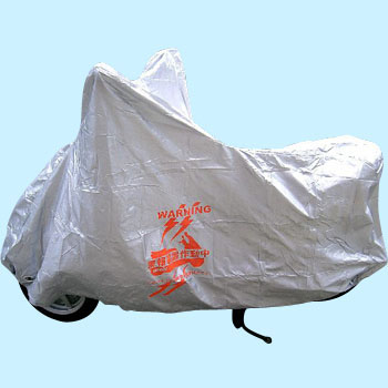 Warning Logo With Bike Cover