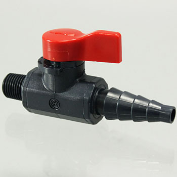 Ball Valve, LAB Cock Male Thread x Hose
