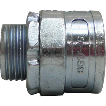 Knock-Out Connector With Thick Steel Conduit Male Thread
