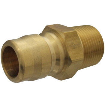 Plug Coupler for Valveless Medium Pressure, Brass, For Mounting Female Screws