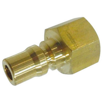 Plug Coupler for Valveless Medium Pressure, Brass, For Mounting Male Screws