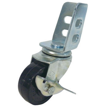 Light and Middle Angle Caster, Swivel Caster with Brake, Rubber Wheel