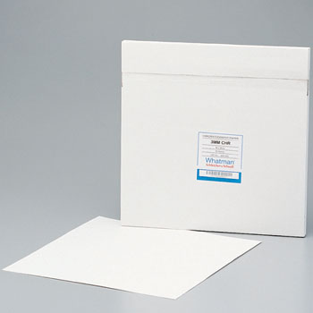 Paper square for chromatography