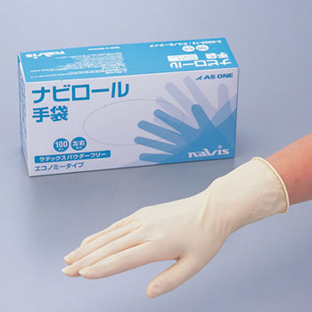 Navi Roll Gloves Latex, Economy Type Powder Free