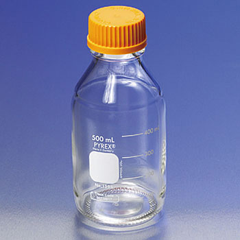 PYREX Medium Bottle, Orange Cap