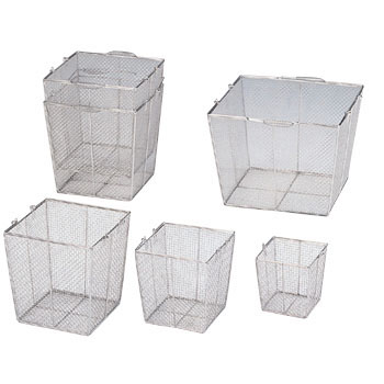 Stainless Steel Rectangular Washing Basket