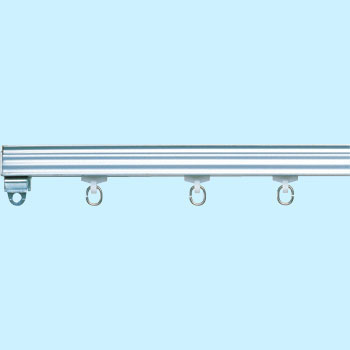 Medium Sized Curtain Rail Silver