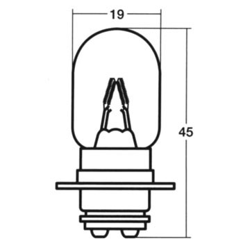 Moped Bulb, 2 Wheeled Vehicle Head Lamp, 12V