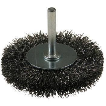 A Wheel Brush With A Steel-Wire Axis