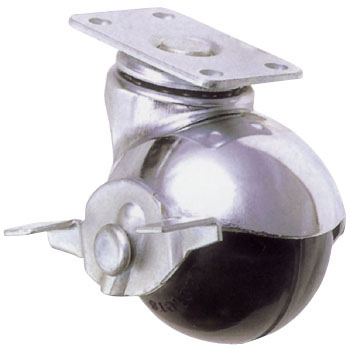 Ball Caster Plate Type Swivel Caster With Stopper