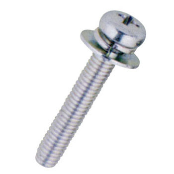 Pan Head Screw P3 with SW and W, Trivalent Chromate White