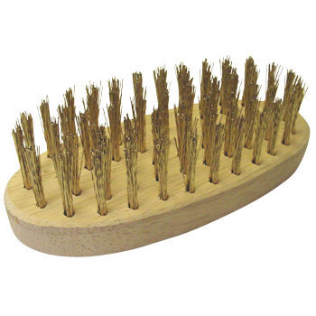 Wooden Handle Gold Plated Brush