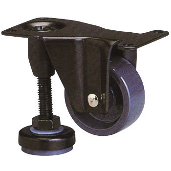 600 Af Series With Level Adjuster Fixed Casters, Nylon Car