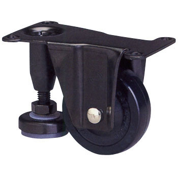 600AF Series Adjuster Hoot Rigid Caster Rubber Wheel