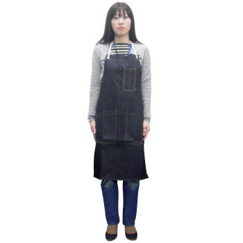 Denim Shop Apron With Pockets