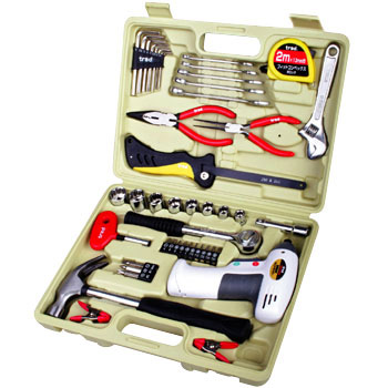 47pcs Tool Set, Battery Screwdriver