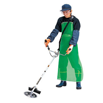 Mesh, Spat Apron for Mowing Grass