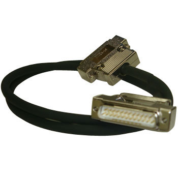 D-sub (EMI measures) harness (with male and female connector) round cable