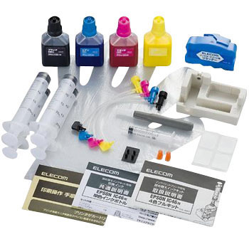 EPSON IC46 Refill Ink 4 Colors and Dedicated Tool