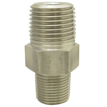 Stainless Steel High-Pressure Turn-Function Hexal Nipple