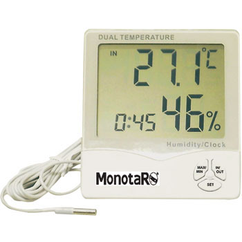 Digital In-Out Thermo-Hygrometer, with Clock