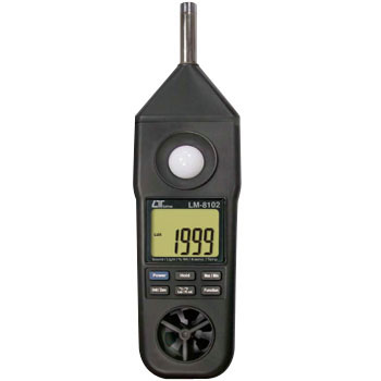 Multi Environmental Measuring Equipment, Light, Noise, Wind, Temperature And Humidity