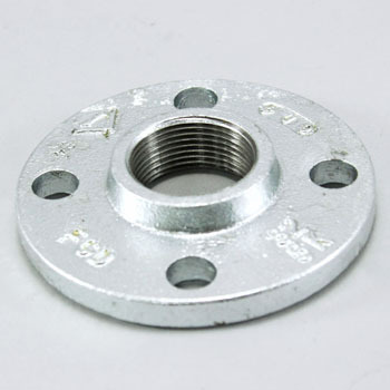 White Threaded Flange