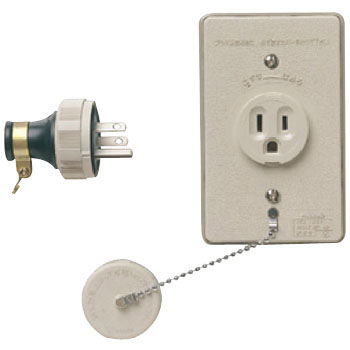 Water Proof Embedding Outlet with Cap