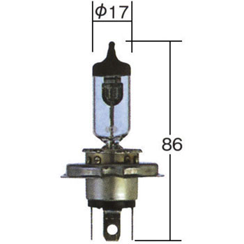 High Power Halogen Bulb H4u 12V