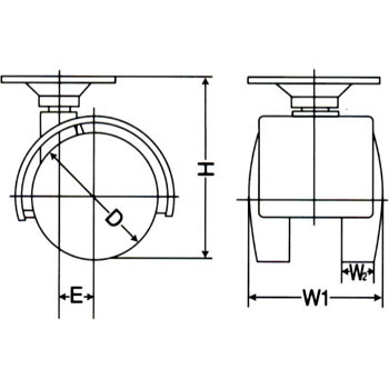 Plate Type Twin Wheel Cater, Nylon