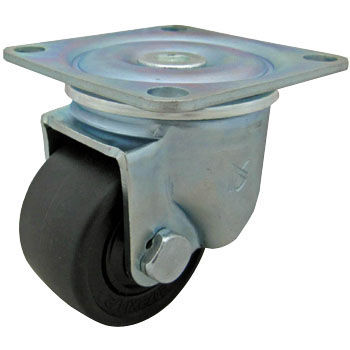 Low Base Heavy Duty Casters, Reinforced Nylon Wheels