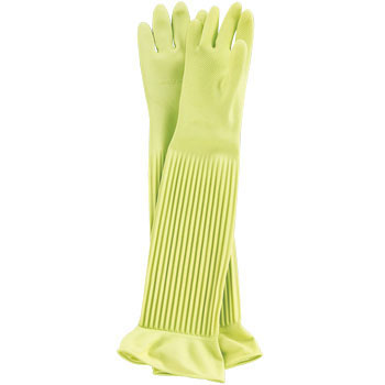 Natural Rubber Thick Gloves Super Long