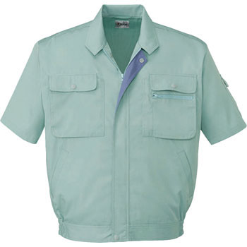 44110 [product voltage control] short sleeve blouson (for spring and summer)