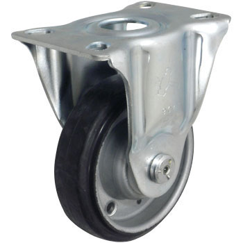 420SR-1 Rigid Caster, Sheet Iron Wheel, Rubber Wheel