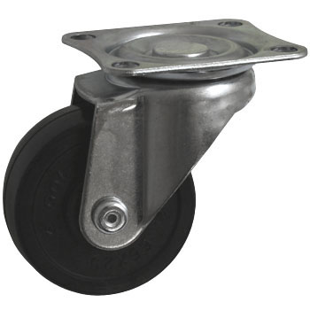 Gold Caster SJ, Rubber Wheel, Swivel Caster