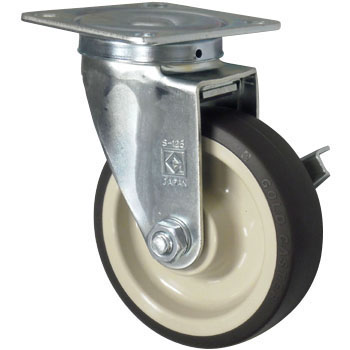 Gold Caster SJ, Urethane Wheel, with Brake